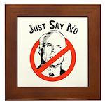 Anti-McCain: Just say no Framed Tile