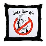 Anti-McCain: Just say no Throw Pillow
