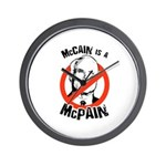 McCain is a McPain Wall Clock