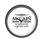 McCain 2008: No Country for old men Wall Clock
