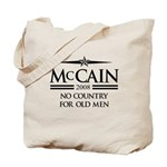 McCain 2008: No Country for old men Tote Bag