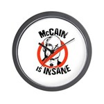 Anti-McCain: McCain is Insane Wall Clock