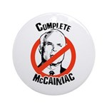 Anti-McCain: Complete McCainiac Ornament (Round)