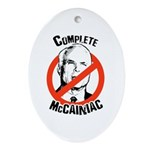 Anti-McCain: Complete McCainiac Oval Ornament