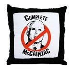Anti-McCain: Complete McCainiac Throw Pillow