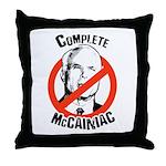 Anti-McCain: Complete McCainiac Throw Pillow