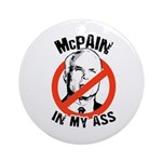McPain in my ass Ornament (Round)