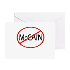 Anti-McCain Greeting Cards (Pk of 20)