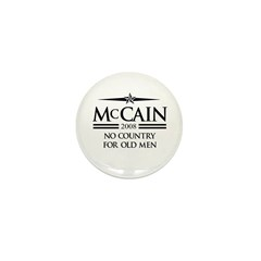 McCain 2008: Less jobs, More wars Mini Button (100