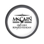 McCain 2008: Old like Ronald Reagan Wall Clock