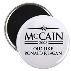 "McCain 2008: Old like Ronald Reagan 2.25"" Magnet ("