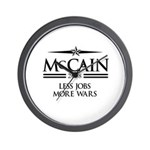 McCain 2008: Less jobs, more wars Wall Clock