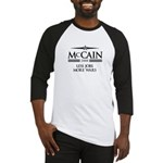 McCain 2008: Less jobs, more wars Baseball Jersey