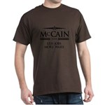 McCain 2008: Less jobs, more wars Dark T-Shirt