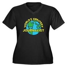 World's Greatest Journ.. (H) Women's Plus Size V-N