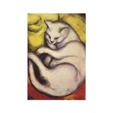 Cat on a Cushion Rectangle Magnet (100 pack)