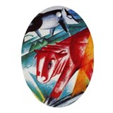 Calf and Pig by Franz Marc Oval Ornament