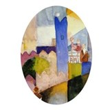 Cairo Scene by Franz Marc Oval Ornament