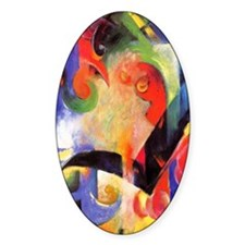Broken Forms by Franz Marc Oval Decal