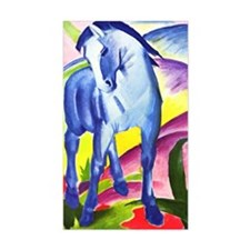 Blue Horse by Franz Marc Rectangle Decal