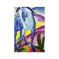 Blue Horse by Franz Marc Rectangle Magnet