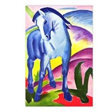 Blue Horse by Franz Marc Postcards (Package of 8)