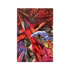 Animal Fates by Franz Marc Rectangle Magnet