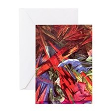 Animal Fates by Franz Marc Greeting Card