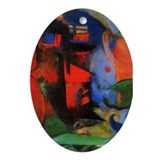 Abstract Forms Oval Ornament