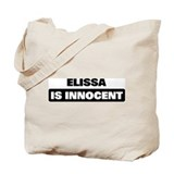 ELISSA is innocent Tote Bag