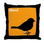 iBand (orange) Throw Pillow
