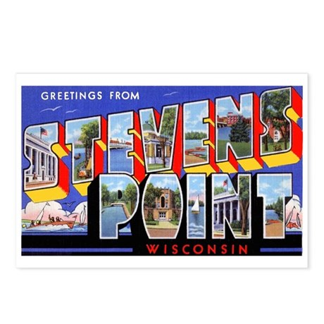 Stevens Point Wisconsin Greetings Postcards (Packa