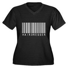 Hairdresser Barcode Women's Plus Size V-Neck Dark