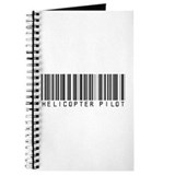 Helicopter Pilot Barcode Journal