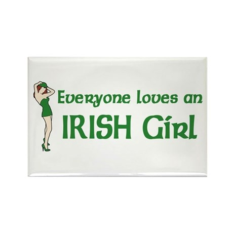 Everyone loves an Irish Girl Rectangle Magnet (10