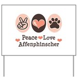 Peace Love Affenpinscher Yard Sign