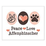 Peace Love Affenpinscher Small Poster