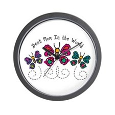 Butterfly Best Mom Wall Clock