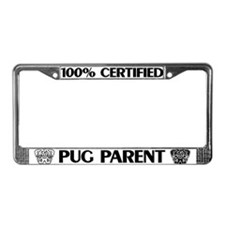 Pug Parent License Plate Frame