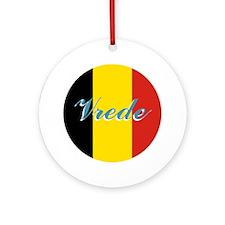 "Belgian Flag ""peace"" Ornament"