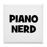 Piano nerd Tile Coaster