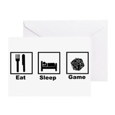 Eat, Sleep, Game Role Playing Greeting Card