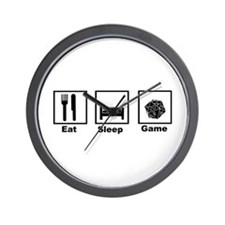 Eat, Sleep, Game Role Playing Wall Clock