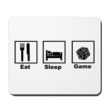 Eat, Sleep, Game Role Playing Mousepad