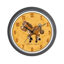 Horse Goin' Riding Wall Clock