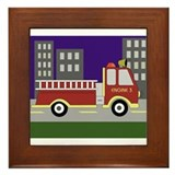 Firetrucks Framed Tile