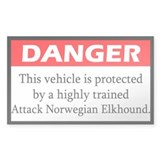 Attack Norwegian Elkhound Bumper Stickers