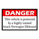 Attack Norwegian Elkhound Decal