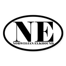 NE Abbreviation Norwegian Elkhound Decal