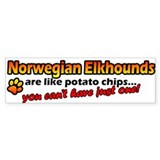 Potato Chips Norwegian Elkhound Bumper Bumper Sticker
